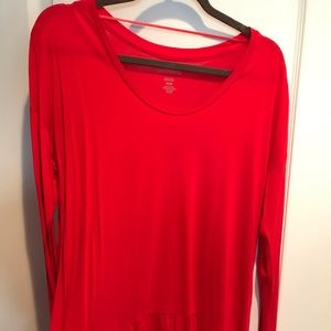 Lord and Taylor red tunic top size M